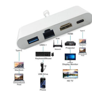 Adapter USB-C 4 in 1