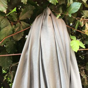 Silver Elastic Scarf and Blanket