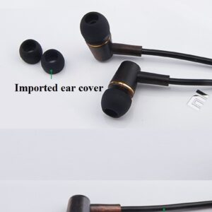 Air Tube Ebony Earphones with low EMF