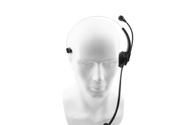 Caller headset with airtube