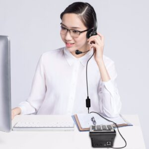 Air Tube Caller Headset With Low EMF