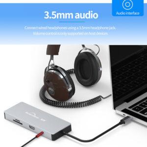 Blueendless Adapter USB-C 9 in 1 Hub